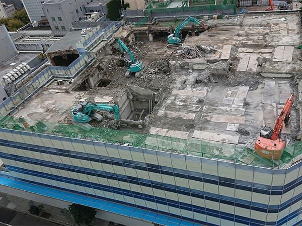 南2西3南西地区市街地再開発 工事進捗2018_9