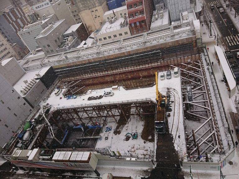 南2西3南西地区市街地再開発工事進捗 定点写真2019_11